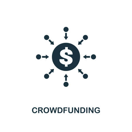 Crowdfunding icon. Premium style design from crowdfunding collection. UX and UI. Pixel perfect crowdfunding icon. For web design, apps, software, printing usage.