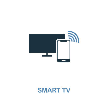 Smart Tv icon in two colors design. Premium style from smart devices icon collection. UI and UX. Illustration of smart tv icon. For web design, apps, software and printing. 向量圖像