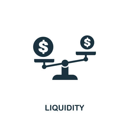 Liquidity icon. Premium style design from crowdfunding collection. UX and UI. Pixel perfect liquidity icon. For web design, apps, software, printing usage. 일러스트