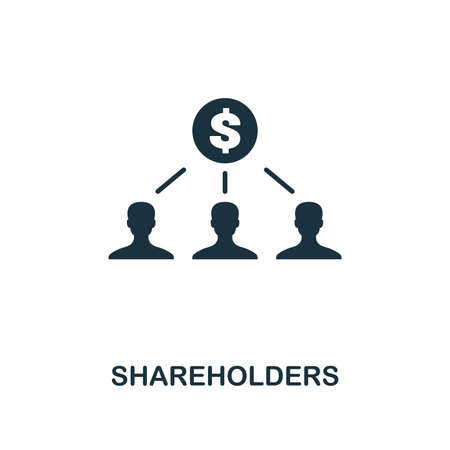 Shareholders icon. Premium style design from crowdfunding collection. UX and UI. Pixel perfect shareholders icon. For web design, apps, software, printing usage. Stock Photo