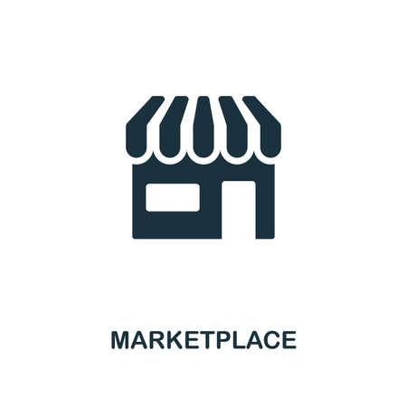 Marketplace icon. Premium style design from crowdfunding collection. UX and UI. Pixel perfect marketplace icon. For web design, apps, software, printing usage. Illustration