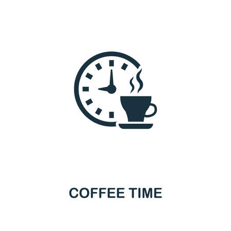 Coffee Time icon. Premium style design from coffe shop collection. UX and UI. Pixel perfect coffee time icon. For web design, apps, software, printing usage.