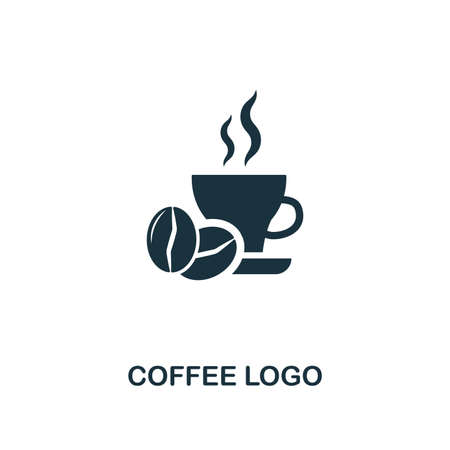 Coffee Logo icon. Premium style design from coffe shop collection. UX and UI. Pixel perfect coffee logo icon. For web design, apps, software, printing usage.