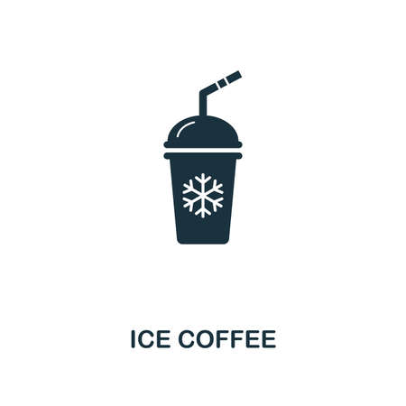 Ice Coffee icon. Premium style design from coffe shop collection. UX and UI. Pixel perfect ice coffee icon. For web design, apps, software, printing usage.