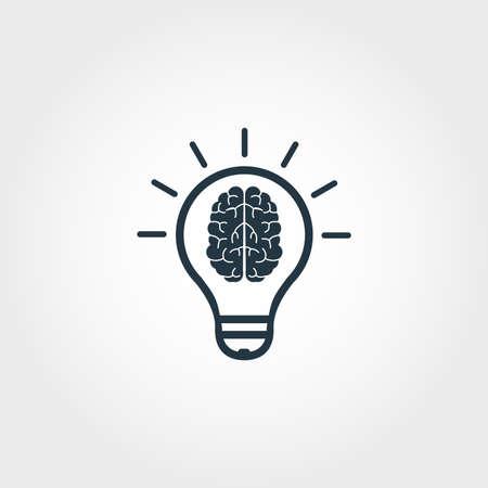 Icono de habilidad. Diseño monocromático premium de la colección de iconos de educación. Icono de capacidad creativa para diseño web y uso de impresión.