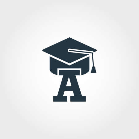 Beginner icon. Premium monochrome design from education icons collection. Creative beginner icon for web design and printing usage.
