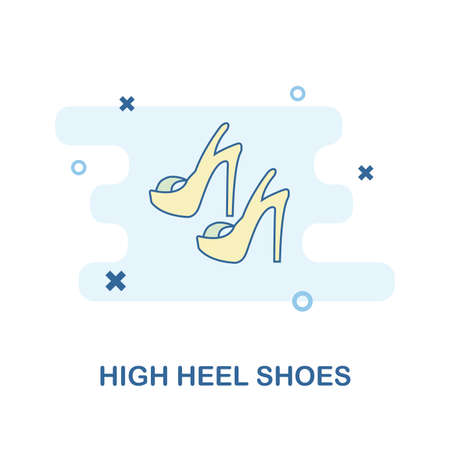 High Heel Shoes icon. Monochrome style design from clothes collection. UX and UI. Pixel perfect high heel shoes icon. For web design, apps, software, printing usage. Фото со стока - 110075146