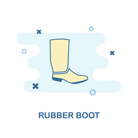 Rubber Boots icon. Monochrome style design from clothes collection. UX and UI. Pixel perfect rubber boots icon. For web design, apps, software, printing usage.
