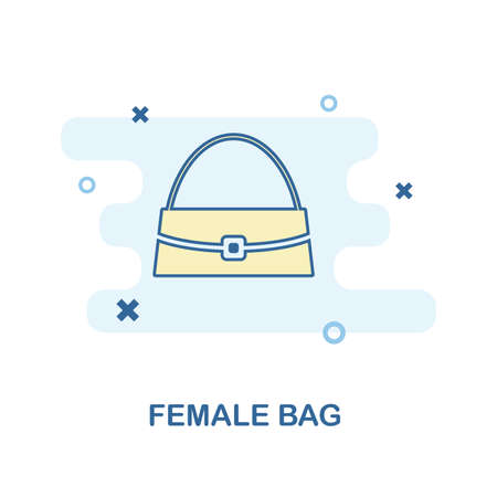 Female Bag icon. Monochrome style design from clothes icon collection. UI and UX. Pixel perfect female bag icon. For web design, apps, software, print usage. 免版税图像