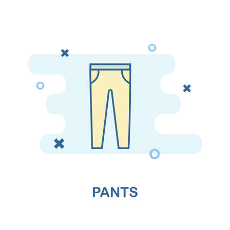 Pants icon. Monochrome style design from clothes icon collection. UI and UX. Pixel perfect pants icon. For web design, apps, software, print usage.