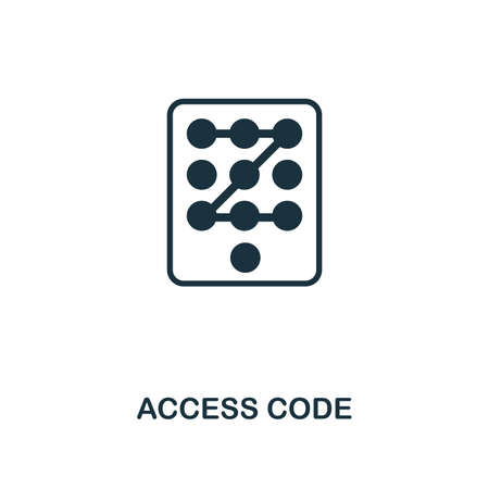 Access Code icon. Premium style design from security collection. UX and UI. Pixel perfect access code icon for web design, apps, software, printing usage. Vettoriali