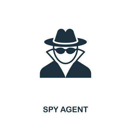 Spy Agent icon. Premium style design from security collection. UX and UI. Pixel perfect spy agent icon for web design, apps, software, printing usage. Illustration