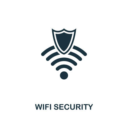 Wifi Security icon. Premium style design from security collection. UX and UI. Pixel perfect wifi security icon for web design, apps, software, printing usage.