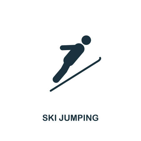 Ski Jumping icon. Premium style design from winter sports collection. UX and UI. Pixel perfect ski jumping icon for web design, apps, software, printing usage. Illustration