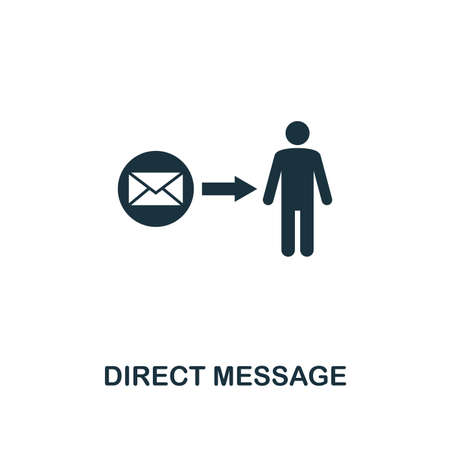 Direct Message icon. Premium style design from advertising collection. UX and UI. Pixel perfect direct message icon for web design, apps, software, printing usage.