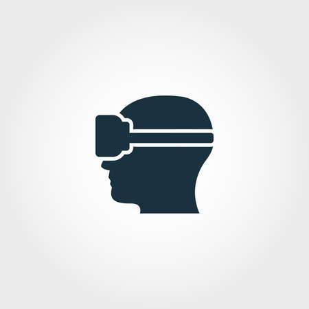 Virtual Reality creative icon. Premium style design from visual device icons collection. Simple virtual reality icon for web design and printing