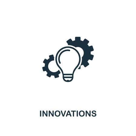 Icono de innovaciones. Diseño de estilo premium de la colección de iconos de inicio. UI y UX. Icono de Pixel Perfect Innovations para diseño web, aplicaciones, software, uso de impresión. Ilustración de vector
