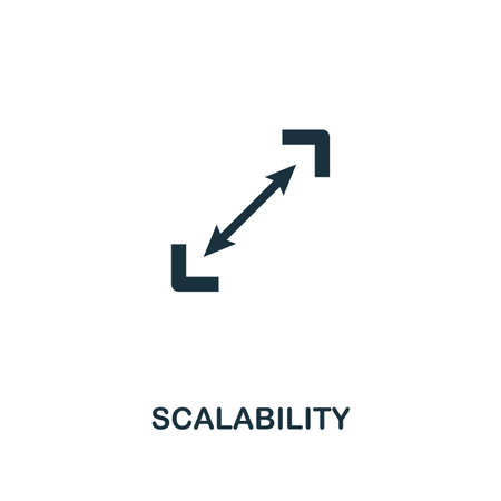 Scalability icon. Premium style design from startup icon collection. UI and UX. Pixel perfect Scalability icon for web design, apps, software, print usage.