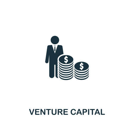 Venture Capital icon. Premium style design from startup icon collection. UI and UX. Pixel perfect Venture Capital icon for web design, apps, software, print usage. Vectores