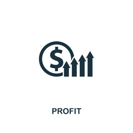 Profit icon. Premium style design from startup icon collection. UI and UX. Pixel perfect Profit icon for web design, apps, software, print usage.