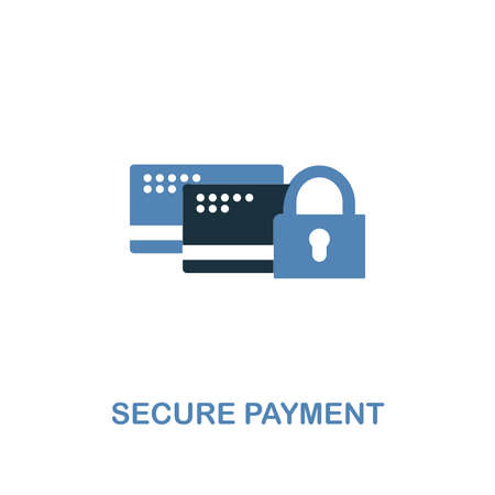 Secure Payment icon in two colors. Premium design from internet security icons collection. Pixel perfect simple pictogram secure payment icon for web design and printing.