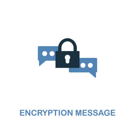 Encryption Message icon in two colors. Premium design from internet security icons collection. Pixel perfect simple pictogram encryption message icon for web design and printing.