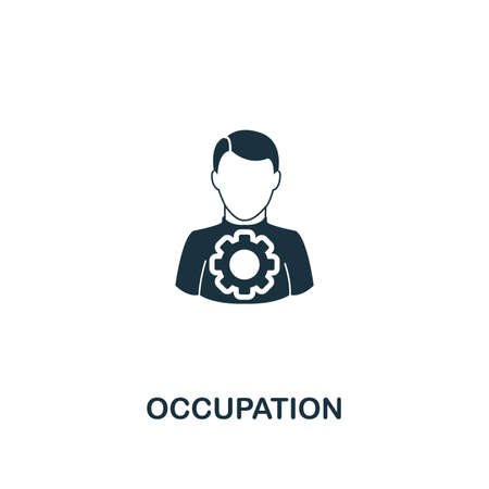 Occupation icon. Premium style design from teamwork collection. UX and UI. Pixel perfect occupation icon for web design, apps, software, printing usage. 向量圖像