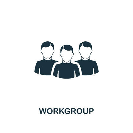 Workgroup icon. Premium style design from teamwork collection. UX and UI. Pixel perfect workgroup icon for web design, apps, software, printing usage.