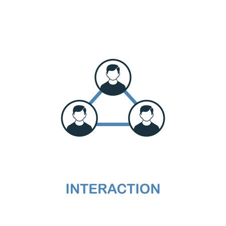 Interaction icon. Two colors premium design from management icons collection. Pixel perfect simple pictogram interaction icon. UX and UI usage.