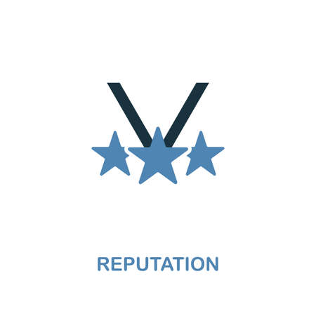 Reputation icon. Two colors premium design from management icons collection. Pixel perfect simple pictogram reputation icon. UX and UI usage.