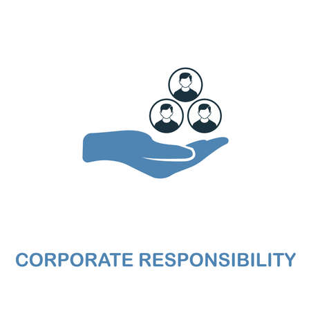 Corporate Responsibility icon. Two colors premium design from management icons collection. Pixel perfect simple pictogram corporate responsibility icon. UX and UI usage. Stock Photo