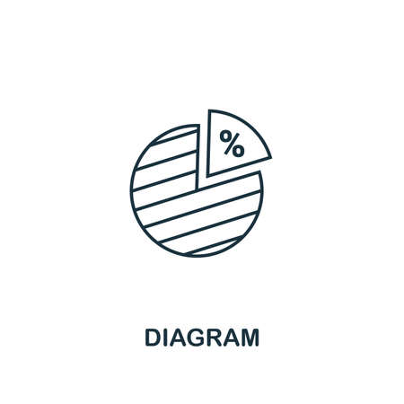 Diagram icon. Outline style thin design from business icons collection. Pixel perfect simple pictogram diagram icon for UX and UI