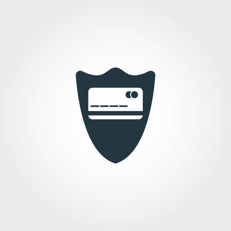 Credit Card Security icon. Monochrome design style from money collection. For UX and UI usage. Stock Illustratie