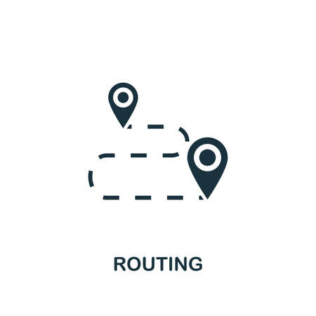 Routing icon. Premium style design from public transport icon collection. UI and UX. Pixel perfect Routing icon for web design, apps, software, print usage.