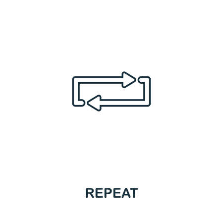 Repeat creative icon. Simple element illustration. Repeat concept symbol design from audio buttons collection. Can be used for web, mobile and print. web design, apps, software, print. Illustration
