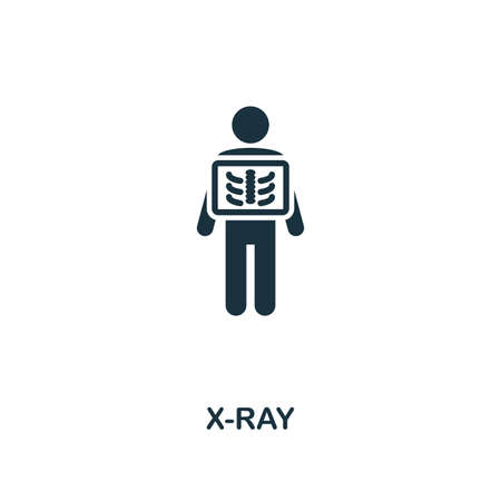 X-Ray icon. Premium style design from healthcare collection. Pixel perfect x-ray icon for web design, apps, software, printing usage. Illusztráció