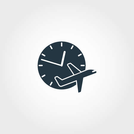 Flight Delayed creative icon. Simple element illustration. Flight Delayed concept symbol design from airport collection. Can be used for web, mobile and print. web design, apps, software, print.