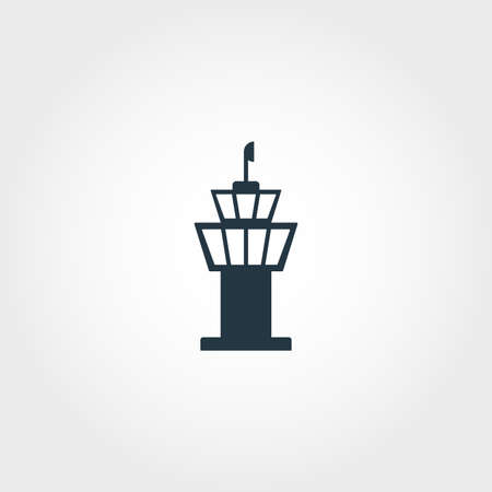 Airport Tower creative icon. Simple element illustration. Airport Tower concept symbol design from airport collection. Can be used for web, mobile and print. web design, apps, software, print.
