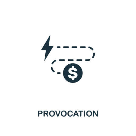 Provocation icon. Premium style design from corruption collection. Pixel perfect provocation icon for web design, apps, software, printing usage.