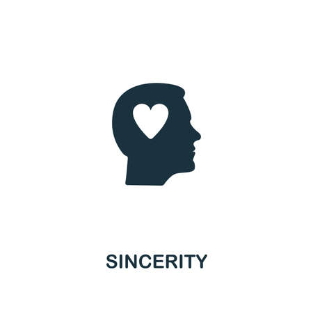 Sincerity icon. Premium style design from influencer collection. Pixel perfect sincerity icon for web design, apps, software, printing usage. Vectores
