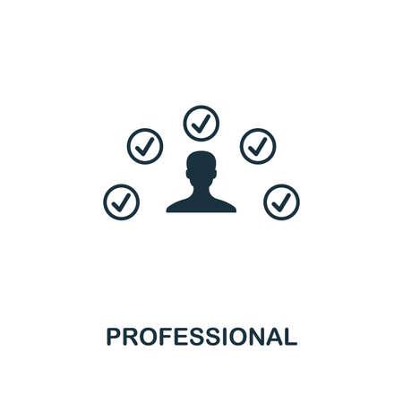 Profesjonalna ikona. Styl premium z kolekcji ikon influencer. Pixel perfect Professional ikona do projektowania stron internetowych, aplikacji, oprogramowania, drukowania Zdjęcie Seryjne