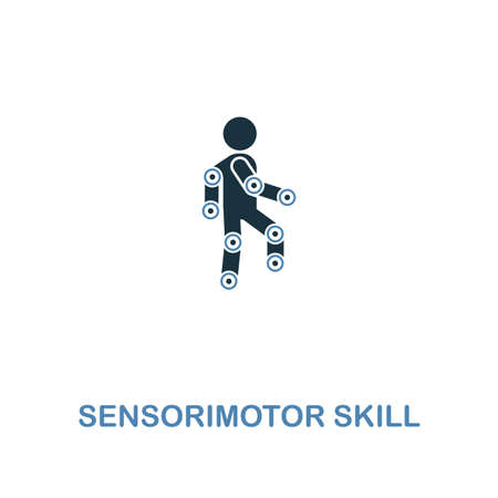 Sensorimotor Skill icon in two colors design. Premium style design from artificial intelligence collection. UX and UI. Pixel perfect sensorimotor skill icon including including logo, branding, shirt, web, responsive, UI UX, development. Reklamní fotografie