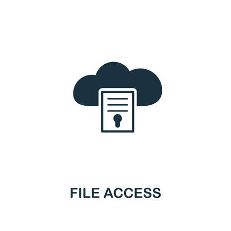 File Access icon. Premium style design from web hosting collection. Pixel perfect file access icon for web design, apps, software, printing usage.