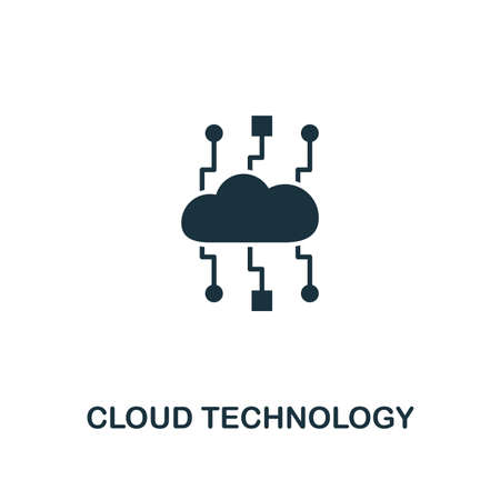 Cloud Technology icon. Premium style design from web hosting collection. Pixel perfect cloud technology icon for web design, apps, software, printing usage.
