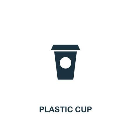 Plastic Cup icon. Premium style design, pixel perfect plastic cup icon for web design, apps, software, printing usage. Иллюстрация