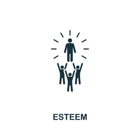 Esteem icon. Premium style design, pixel perfect esteem icon for web design, apps, software, printing usage.