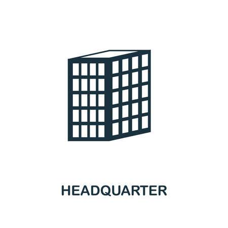 Headquarter icon. Premium style design, pixel perfect headquarter icon for web design, apps, software, printing usage.