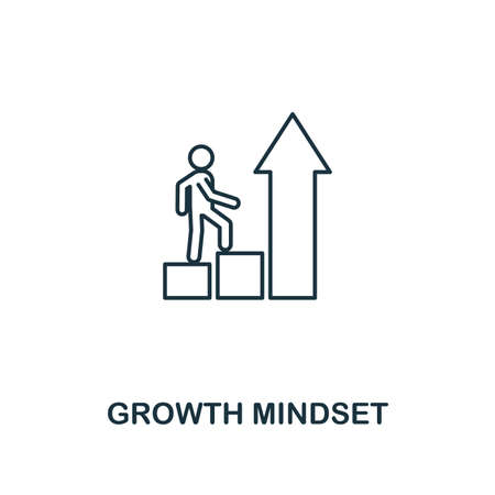 Growth Mindset icon. Thin outline creativeGrowth Mindset design from soft skills collection. Web design, apps, software and print usage.