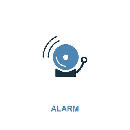 Alarm icon in 2 colors style design. Premium symbol from security icons collection. Pixel perfect Alarm icon for web ui and ux, apps, software usage. Ilustração