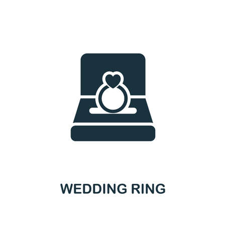 Wedding Ring icon. Premium style design from valentines day icons collection. Pixel perfect wedding ring icon for web design, apps, software, printing usage. Illustration